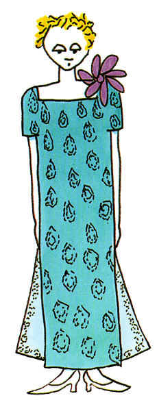 Turquoise Crepe Dress
